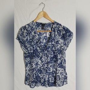 Banana Republic Factory silk blend blouse Sz M